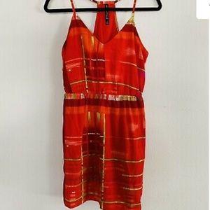 Walter Baker Red racer back summer dress